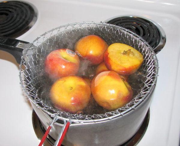 Meyveleri ağartma blanching
